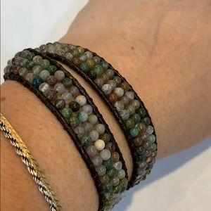 LuluDharma double wrap natural stone bracelet